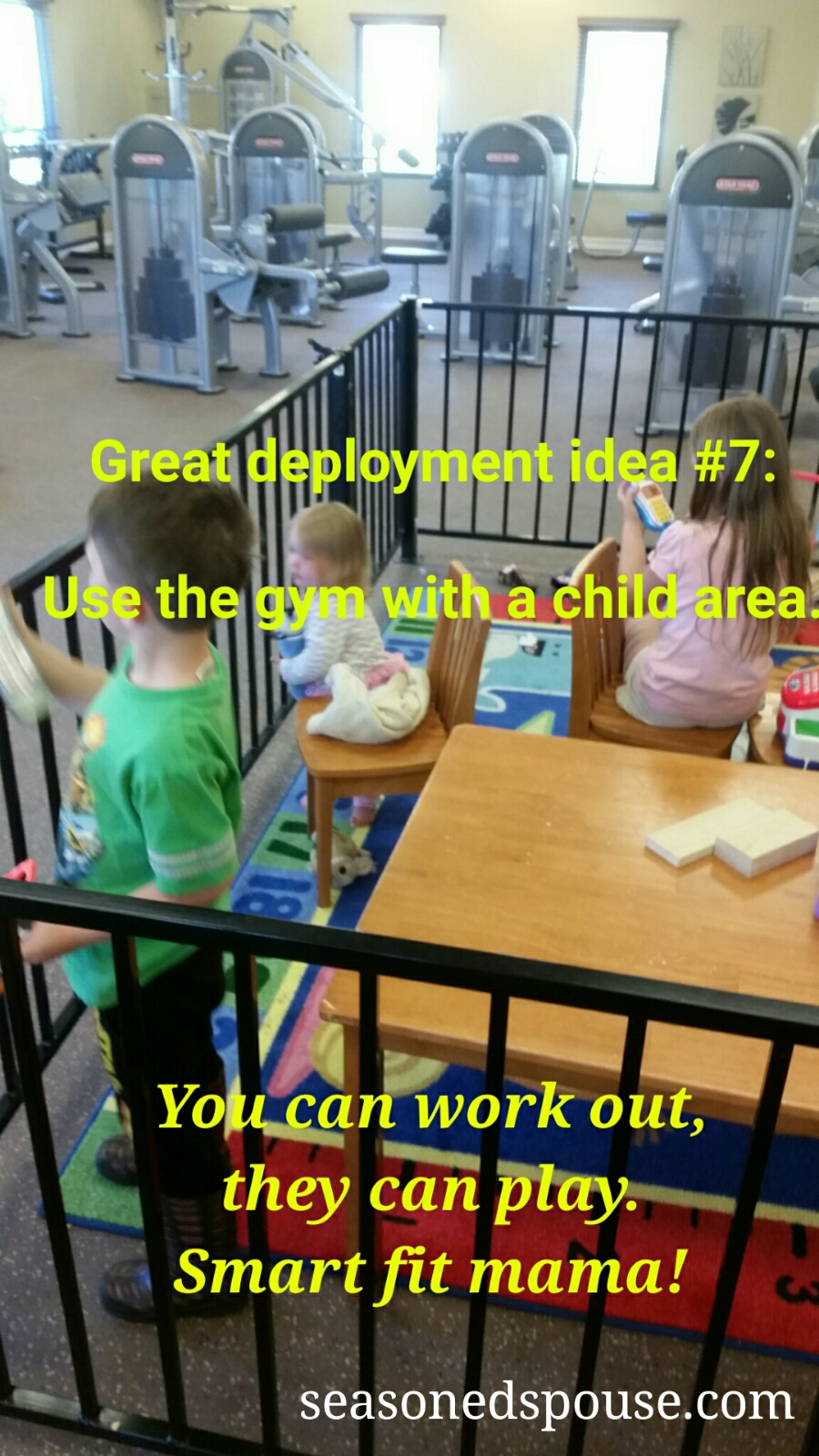 Deployment Survival Tip: Find a gym with childcare