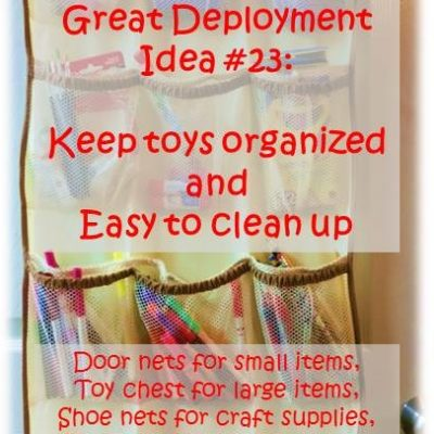 Get Toys Organized to make Clean Up Easier