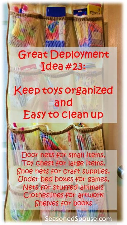 If you want kids to clean their own rooms or keep craft supplies organized, then you have to make it easy for kids to put thing away by themselves and get toys organized. Www.seasonedspouse.com.