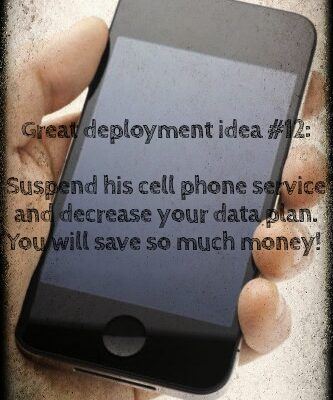 Deployment cell phone bills: How to save money