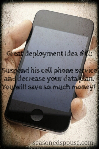 Save money on deployment cell phone bills by cancelling the service member's plan. Here's how. www.seasonedspouse.com