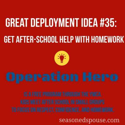 Get after-school help with homework: Idea #35