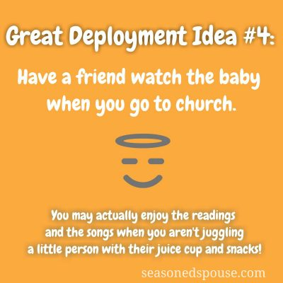 Church with a toddler? Idea #4