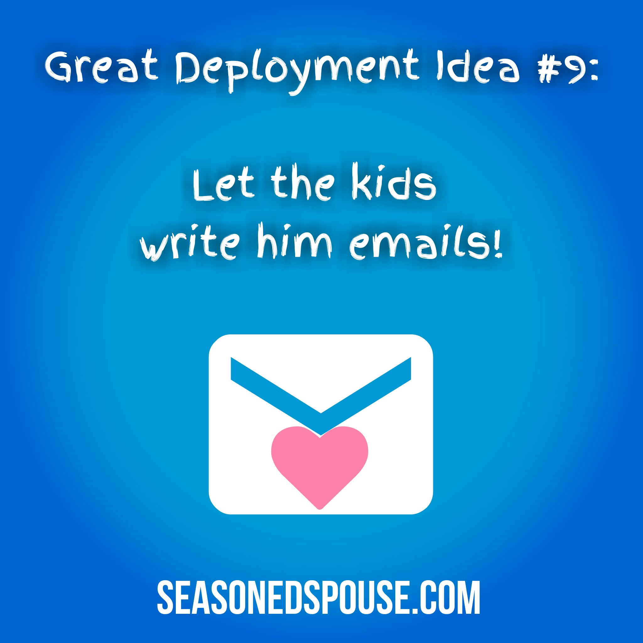 Let the kids write him emails