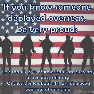 How many Americans are currently deployed?
