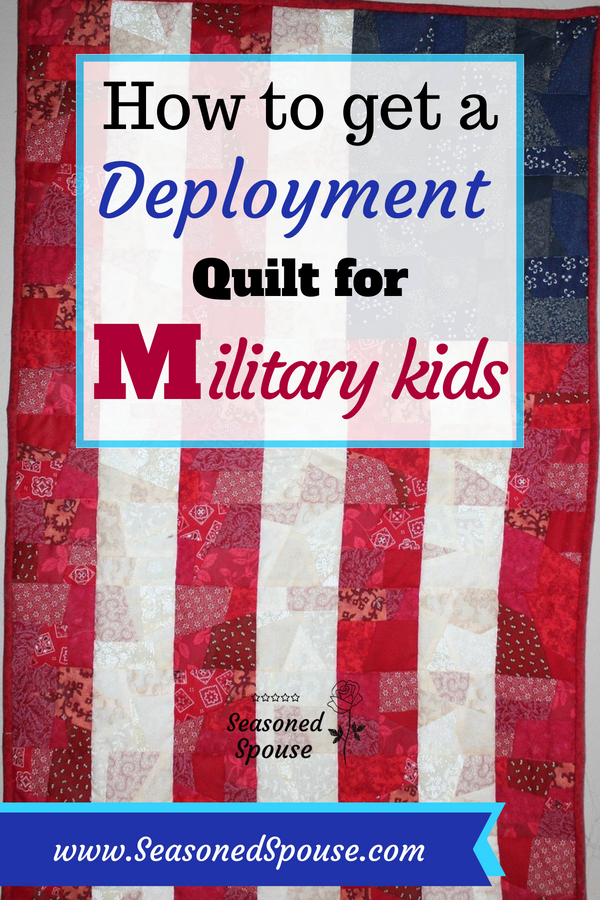 Here's how military kids can get a free deployment quilt from the ASYMCA.