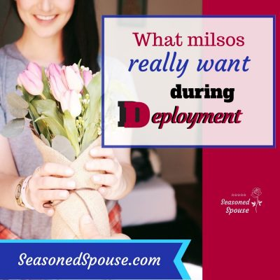 Deployment survival package for a military spouse