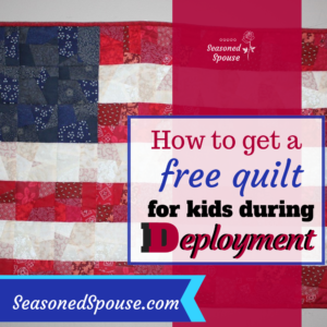 Military kids can get a free quilt during deployment