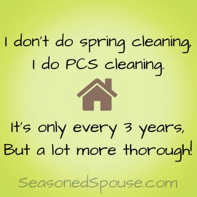 Spring cleaning vs. PCS cleaning