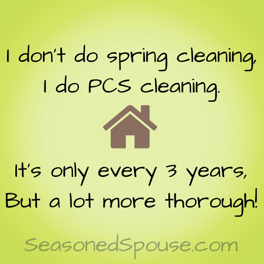 Anyone else not good at cleaning during deployments? Here are the times my house is ACTUALLY clean. www.seasonedspouse.com
