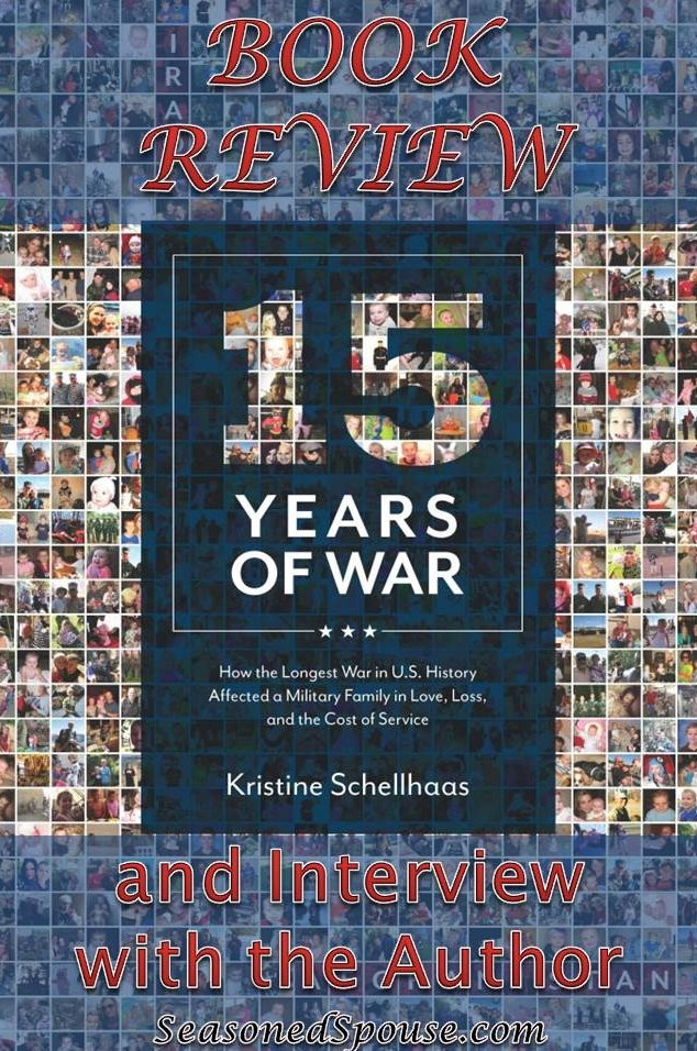 15 Years of War book is written by a military spouse and her husband, detailing their experiences with deployments to Iraq and Afghanistan