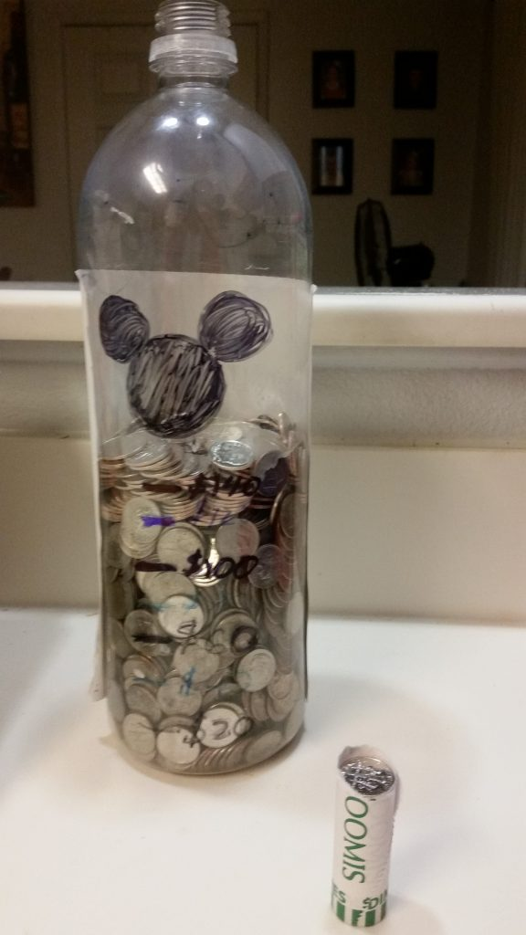 How many dimes can you save for Disney?