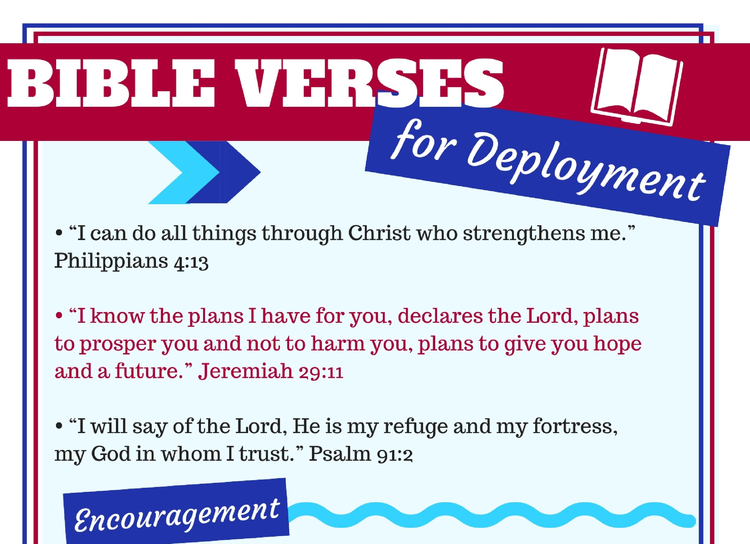 These Bible verses are helpful for Christian military spouses