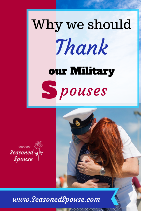 Thank a military spouse for their strength and sacrifice!