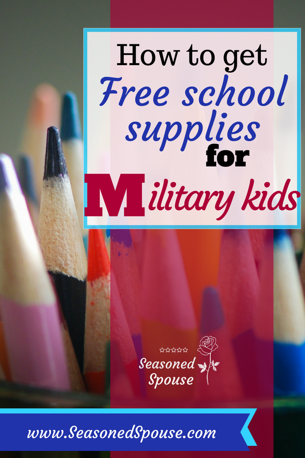 Military kids can get these free school supplies for back to school.