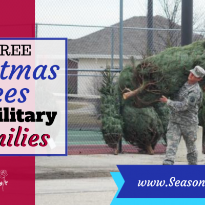 Free Christmas trees for military families