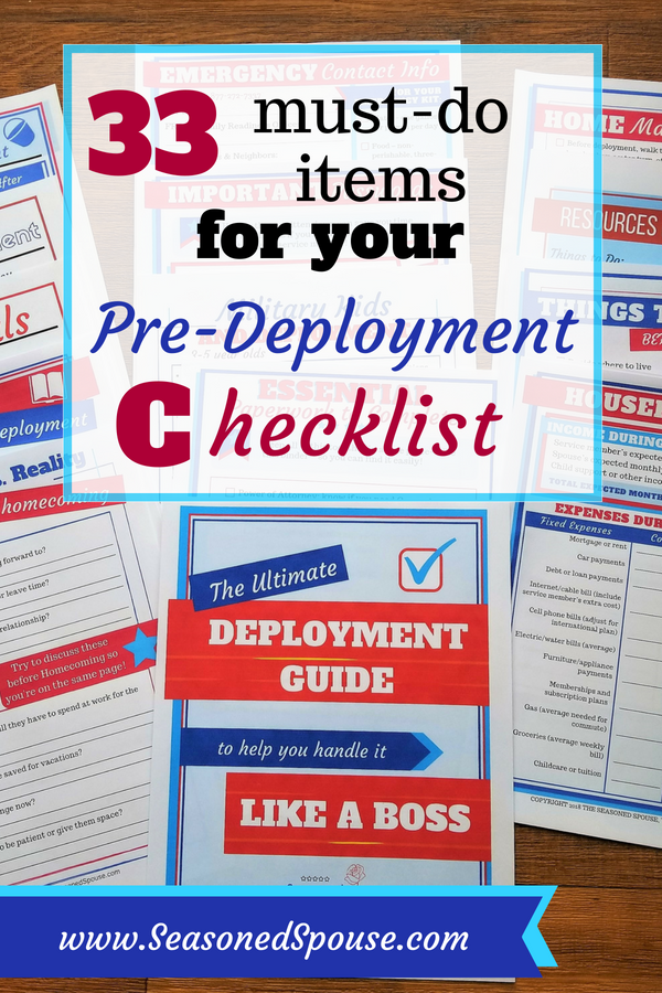 Here's what you really need to do when preparing for deployment. #ThisisDeployment