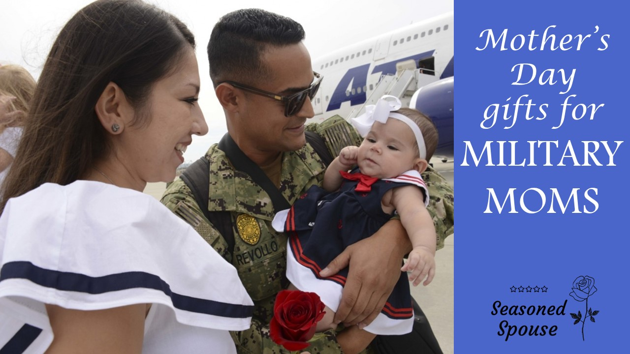 These are the perfect Mother's Day gifts for military spouses and military moms.