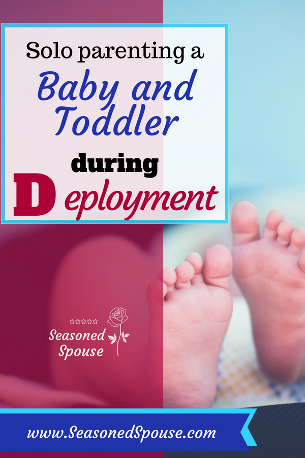 Here's how to get through deployment with a baby and toddler. #ThisisDeployment