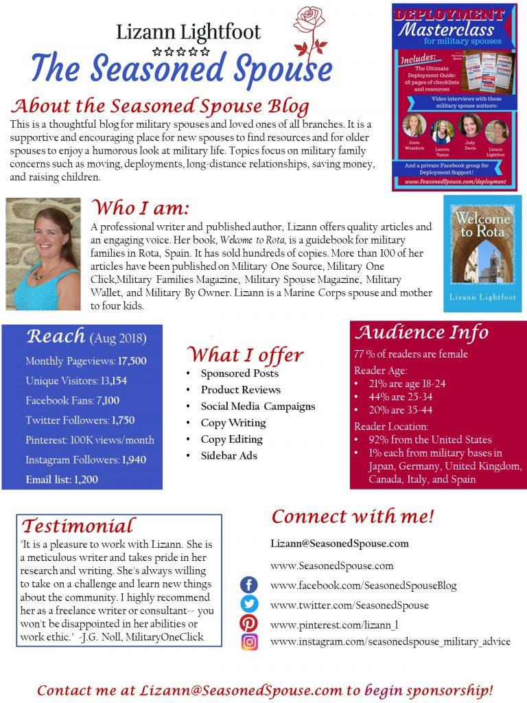 Media kit for Seasoned Spouse