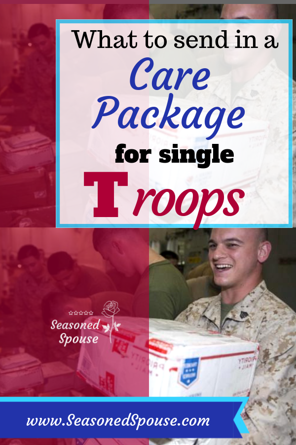 Here are tons of ideas to make a care package for single troops, and why you should send extra holiday care packages.
