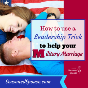 To save a military marriage